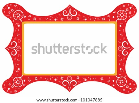 Decorative frame with floral elements