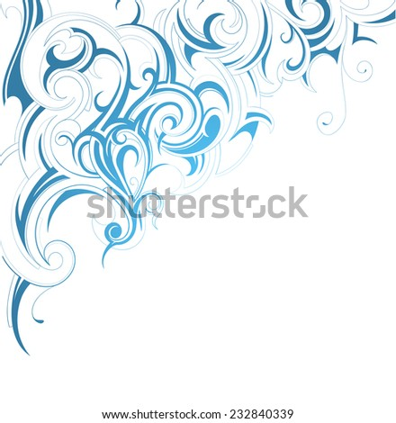 Decorative frame with floral ornament - stock vector