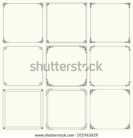 Decorative frames (set 17) - stock vector