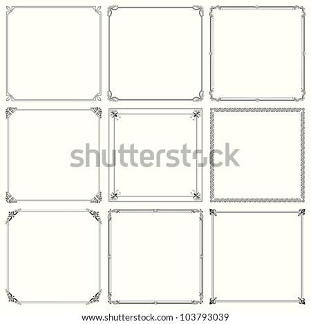 Decorative frames (set 20) - stock vector