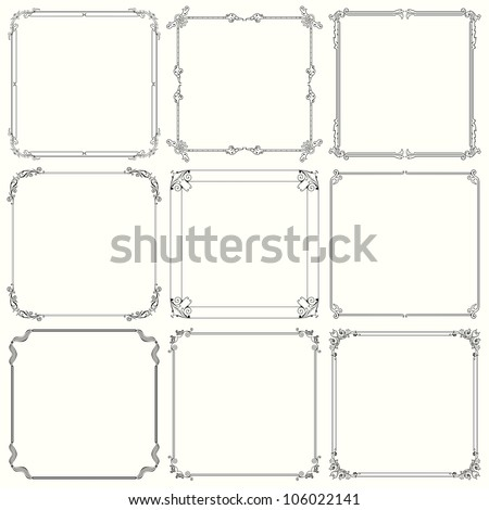 Decorative frames (set 22)