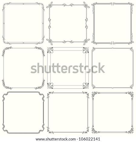 Decorative frames (set 22) - stock vector