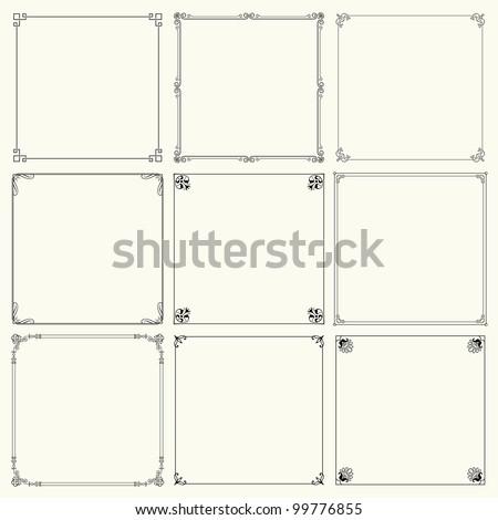 Decorative frames (set 14) - stock vector