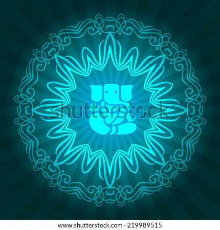 Decorative Ganesha Design with Ornament - stock vector
