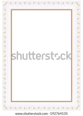 Decorative golden framework. Vector picture frame.  - stock vector
