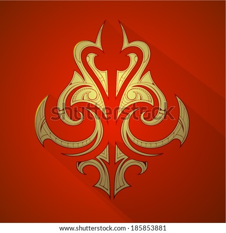 Decorative graphic design element. Coat of arms EPS-10 - stock vector