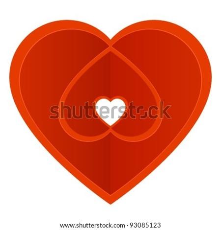 Decorative heart - stock vector