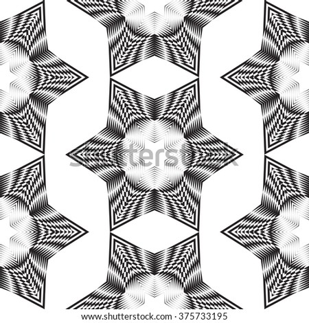 Decorative items to decorate your work. Vector design elements. Geometric seamless pattern.  - stock vector