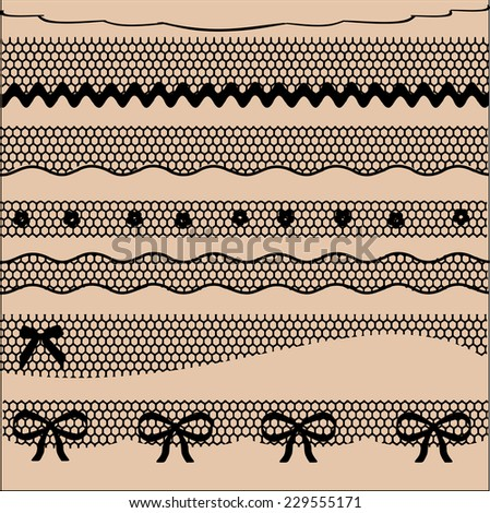 Decorative lace dividers vector