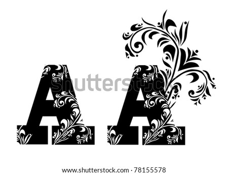 decorative letter a for your design