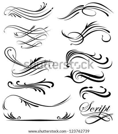 Decorative Line art - stock vector