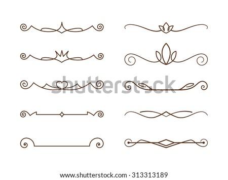 Decorative lines, editable  - stock vector