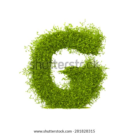 Decorative nature vector letter G - stock vector