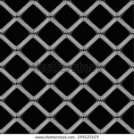 Decorative net monochrome pattern, spring, seamless vector background.