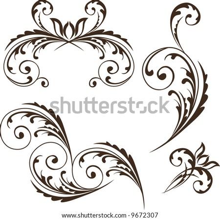 decorative object - stock vector