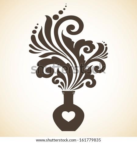 Decorative ornamental love potion - stock vector