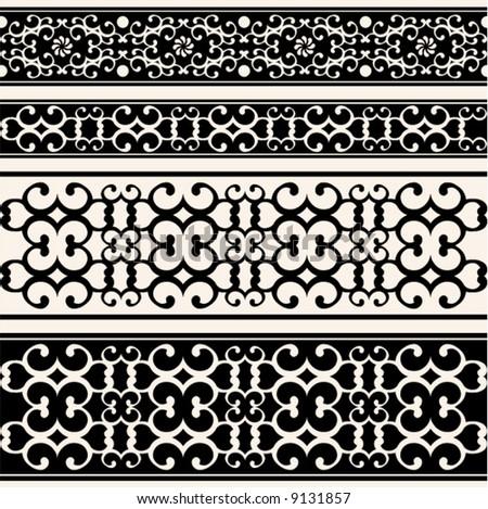 decorative ornate borders - stock vector