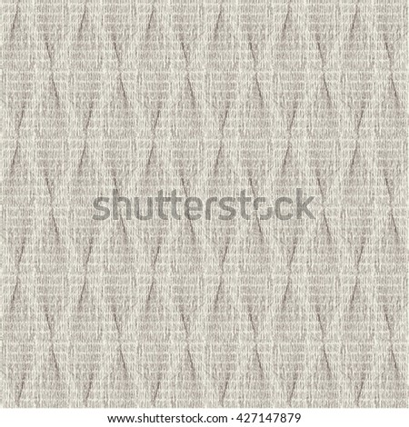 Decorative paper with folds and horizontal stripes. Rough fabric texture. Abstract vector. - stock vector