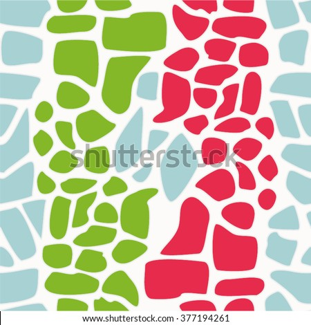 Decorative pattern, pavement, seamless vector background.
