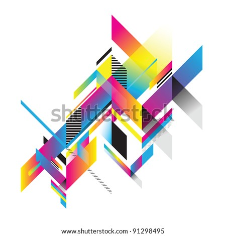 Decorative planes - stock vector