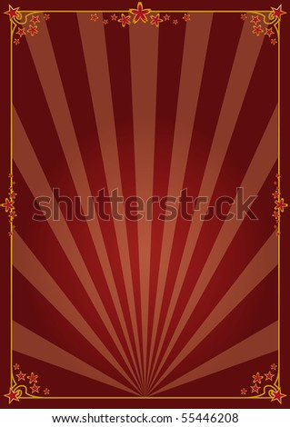 Decorative poster. A background with sunbeams for your advertising. - stock vector