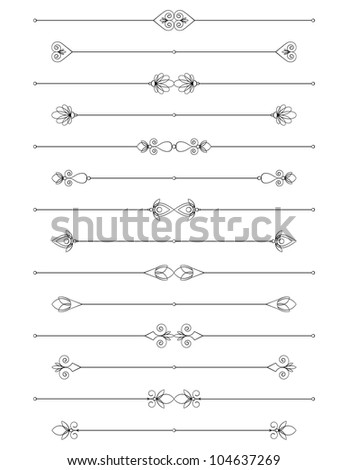 Decorative Rules. Easy to edit! - stock vector