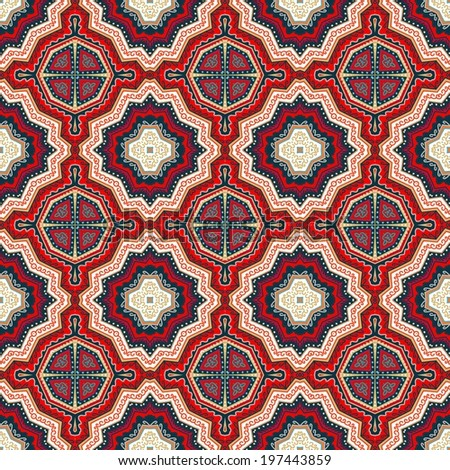 Decorative seamless ethnic pattern - stock vector