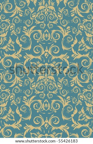 Decorative seamless floral beauty royal ornament - stock vector