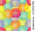 Decorative seamless pattern with bright colors in the vector. - stock vector