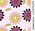 decorative seamless pattern with bright daisies - stock vector