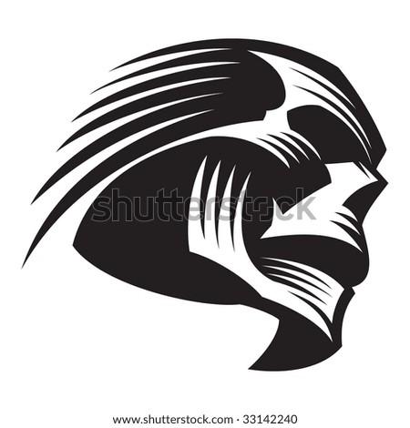 Decorative skull - stock vector