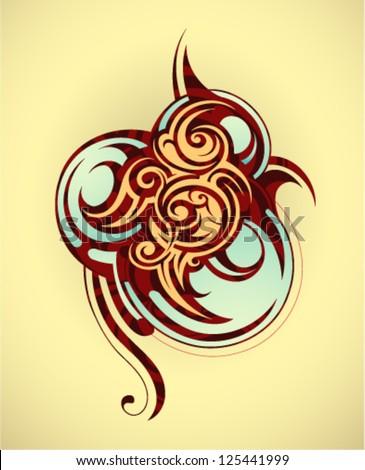 Decorative tattoo - stock vector