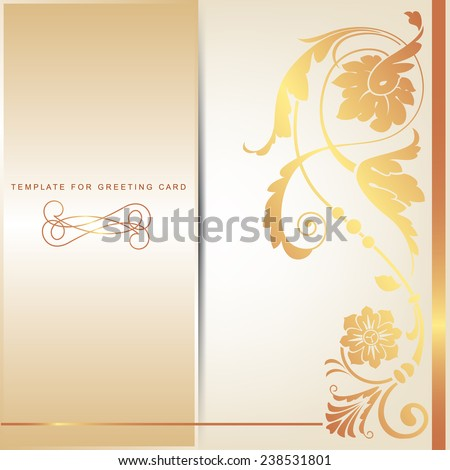 Decorative template ornamental element wedding card stock vector decorative template with ornamental element for wedding card junglespirit Image collections