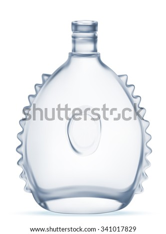 Decorative transparent bottle. Vector EPS-10 - stock vector