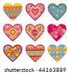 Decorative vector hearts - stock vector