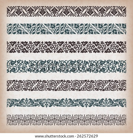 Decorative vintage borders.