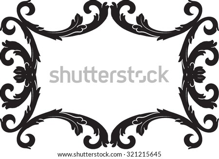 Decorative vintage borders and frames. Page decoration. Decorative floral elements, corners, borders, frame, crown. Black and wight graphic style. - stock vector