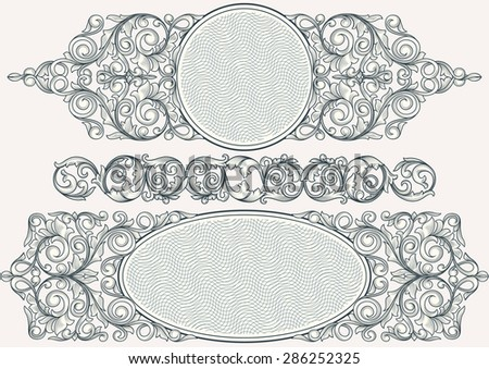 Decorative vintage design - stock vector