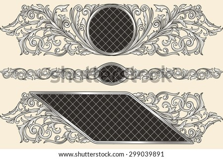 Decorative vintage design - stock vector