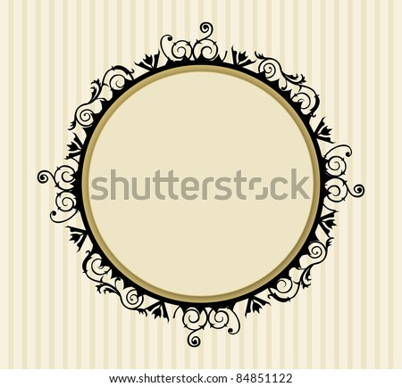 Decorative vintage frame (EPS) - stock vector