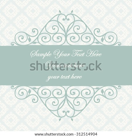 Decorative vintage frame swirl divider header stock vector 312514904 swirl divider and header beautiful floral greeting card elegant invitation stopboris Image collections