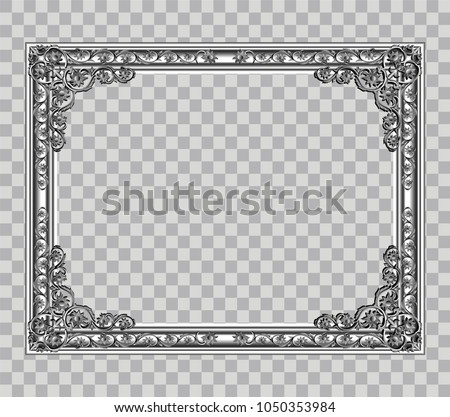 Decorative Vintage Frames Borders Photo Frame Stock Vector ...