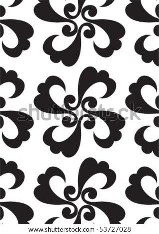 Decorative wallpaper design in shape - stock vector