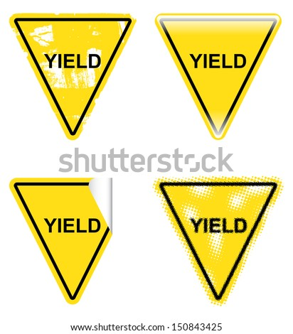 Decorative Yield Signs - stock vector