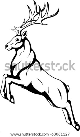 deer - stock vector