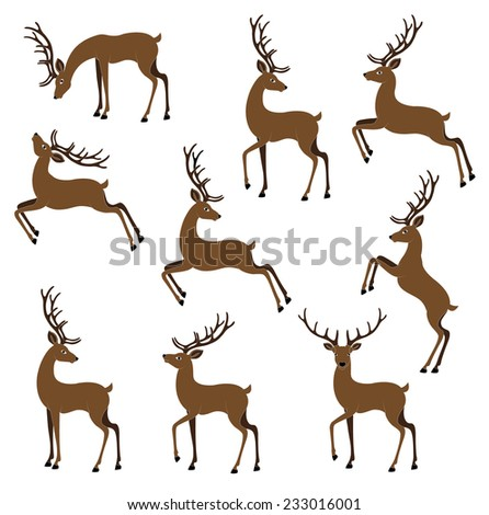 deer color vector image - stock vector