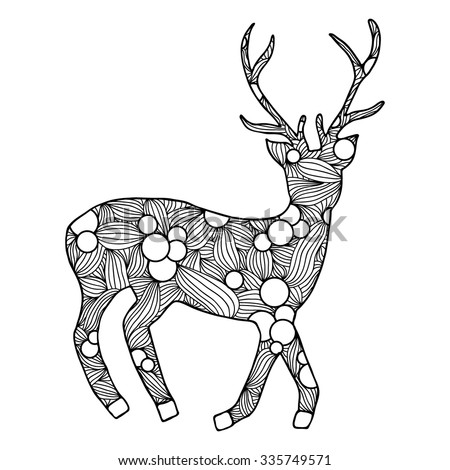 88 Coloring Pages For Adults Deer