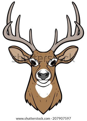 Buck head cartoon