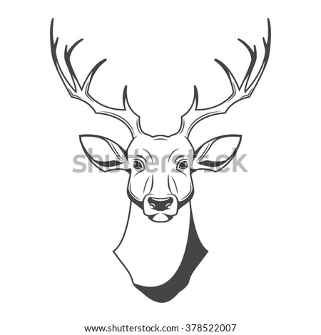 Deer Head Logo Symbol Icon Graphic Stock Vector 378522007 Shutterstock
