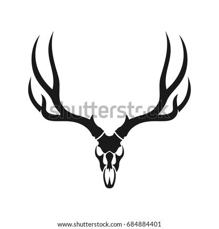 Schadel Tatowierung Hirsch Kopf additionally Antler Cliparts besides Antler rack further Black And White Elk 394987 moreover Stock Photo A Display Set Of Deer Antlers. on deer antler silhouette